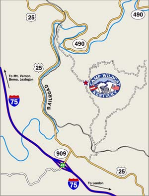 Map to Wildcat from I-75